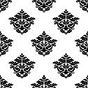 Stock Illustration of black and white foliate motif seamless pattern