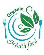 Organic health food icon Stock Illustration