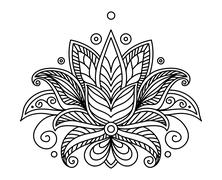 Turkish or persian floral design Stock Illustration
