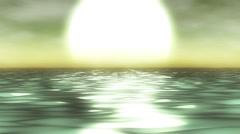 Ocean fog sunset background - 1080p Stock Footage