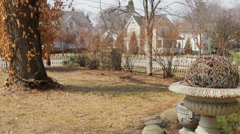 Springtime Front Yard Stock Footage