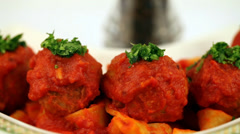 Meatballs Parmesan Stock Footage