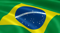 4K Brasil Flag Stock Footage