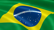 Stock Video Footage of 4K Brasil Flag