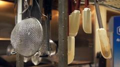 kitchen spatula rack - stock footage