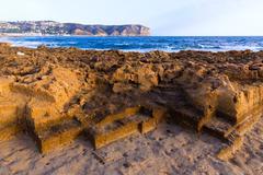 Javea xabia muntanyar beach tosca stone alicante Stock Photos