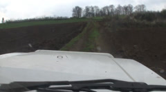 Jeep ride through the acres Stock Footage