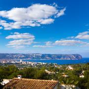 javea xabia skyline with san antonio cape alicante - stock photo