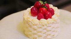 Mini cakes Stock Footage