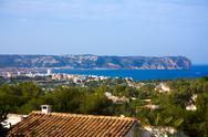 Stock Photo of javea xabia skyline with san antonio cape alicante