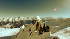 Aerial view of winter landscape. snow mountain Stock Footage