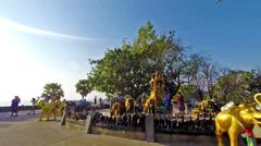 Elephant Shrine in Phromthep cape in Phuket - Thailand. Time lapse Stock Footage