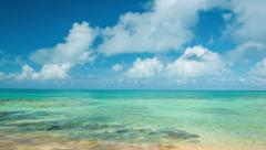 Panning Across Tropical Bermudan Waters Stock Footage