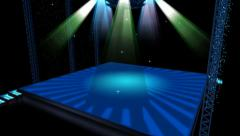 Beautiful stage lighting,spotlights shine & rock performances in Nightclub. Stock Footage