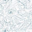 Stock Illustration of Seamless floral pattern with Peony.
