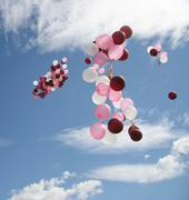 balloons flying - stock photo