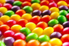 many color candy - stock photo