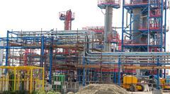 Industrial Refinery Installation Stock Photos
