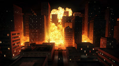 Nuclear explosion in city - stock footage