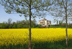 Magnificent palladian villa called la rotonda in neo-classical style in the c Stock Photos