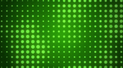 loop background, abstract motion, green flowers - stock footage