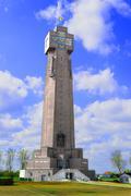 Yzer tower in diksmuide flanders belgium biggest cross war Stock Photos