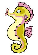 Stock Illustration of cartoon seahorse