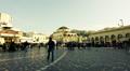 4K Agora Acropolis Monastiraki square big crowd of people Footage