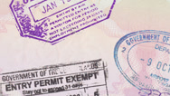 Stock Video Footage of Passport Panning