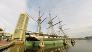 Stock Video Footage of Baltimore Historic Ship USS Constellation HD