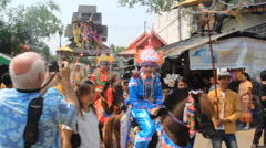 Poi Sang Long festival , Thailand - stock footage