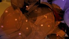 Organic gooey bubbles. Stock Footage
