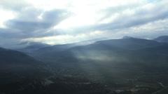 Aerial View: Biyuk-Ashlama-Dere Valley, near Bakhchisaray. Crimea Stock Footage