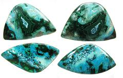 chrysocolla abstract texture geological mineral - stock photo