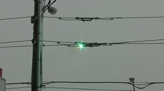 Hydro lines sparking in Toronto storm Stock Footage