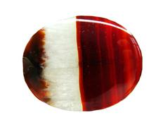 agate with chalcedony geological crystal - stock photo