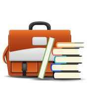 Stock Illustration of school bag with books