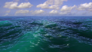 Stock Video Footage of Water Horizon Clouds
