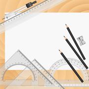 Stock Illustration of vector drawing tools