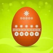 easter egg on green background - stock illustration