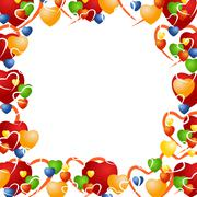 Stock Illustration of valentine background with various hearts