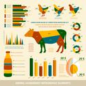 Stock Illustration of animal husbandry infographics flat design elements