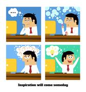 Stock Illustration of inspiration will come