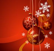 Stock Illustration of christmas background with ball and place for your text.