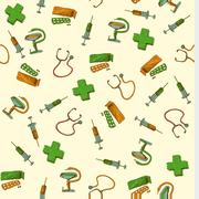 Seamless medicine and healthcare background Stock Illustration