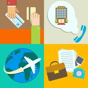 Stock Illustration of business travel infographics icons set