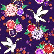 Decorative kimono pattern Stock Illustration