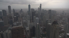 Timelapse Chicago panorama ilmakuva Amerikka USA Financial District pilvenpiirtäjä Arkistovideo