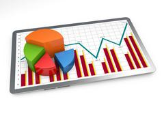 Business graph growth Stock Illustration
