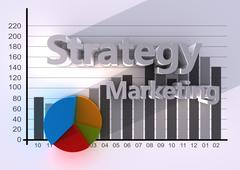 strategy business - stock illustration
